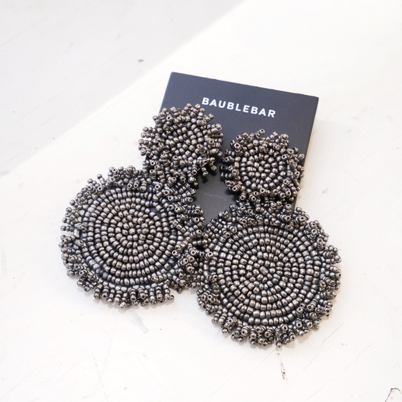 Anthropologie Jewelry - Baublebar Rianne Drop Earrings in Gray